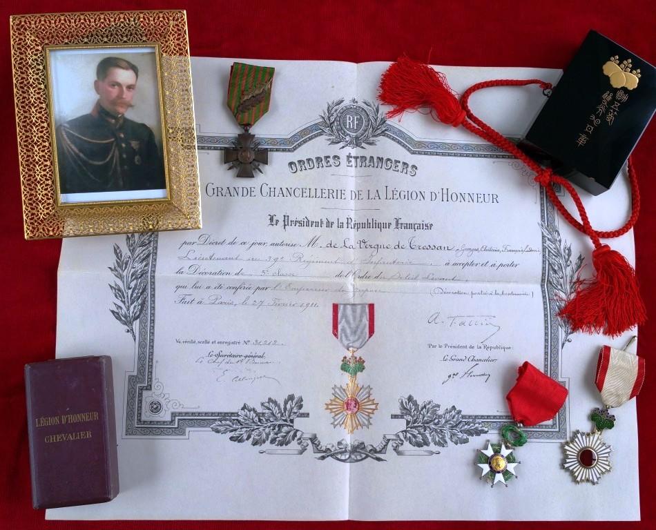 """Un lieutenant Français """"binôme"""" du prince Morimasa décoré par celui ci en 1907 5_de_t10"""