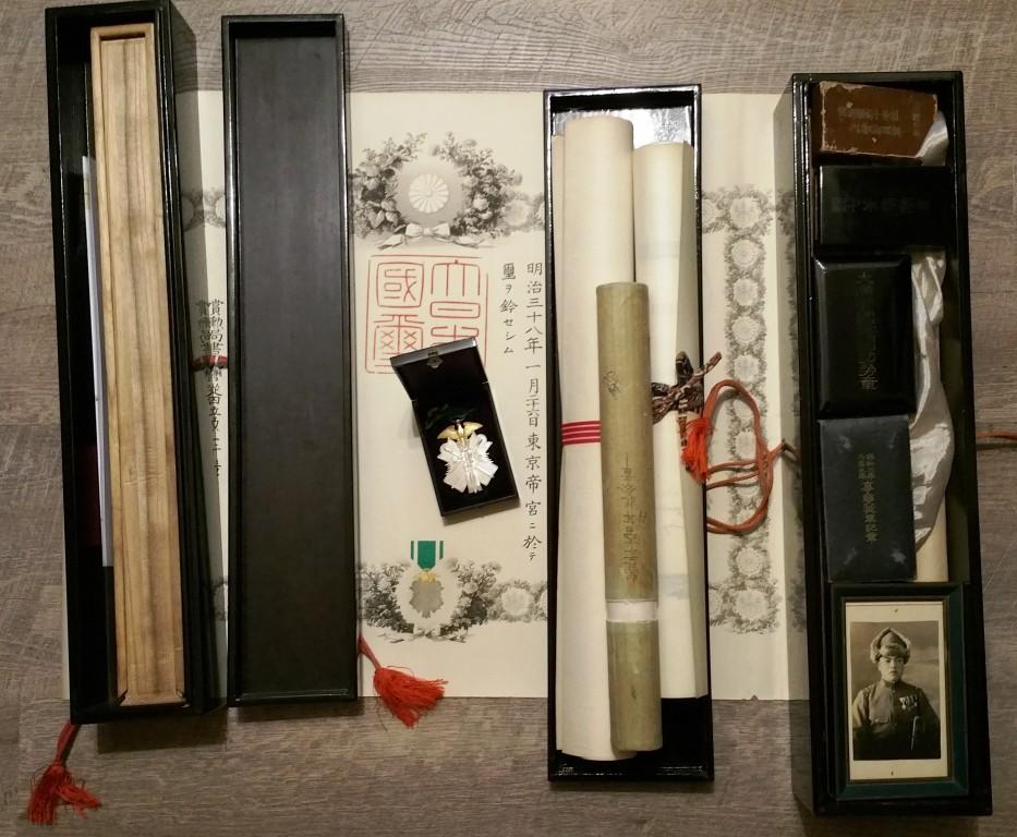 Les boites-écrin pour diplômes en bois laqué sous les 3 empereurs :  Meiji, Tais 9_rang10