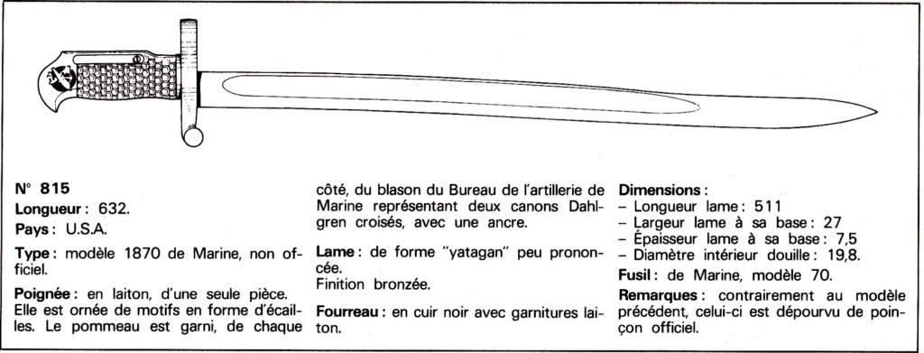 Baïonnette USA artillerie de marine 1870 Bazco_10