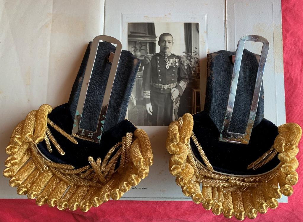 Bicorne et épaulettes de grande tenue d'officier de marine japonaise  Bicorn18