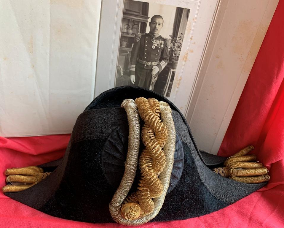 Bicorne et épaulettes de grande tenue d'officier de marine japonaise  Bicorn19