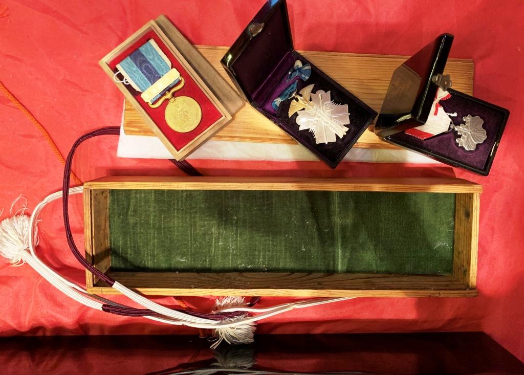 Boite écrin pour diplôme et médaille du caporal Kodéra mort en Chine en 1905 Boites11
