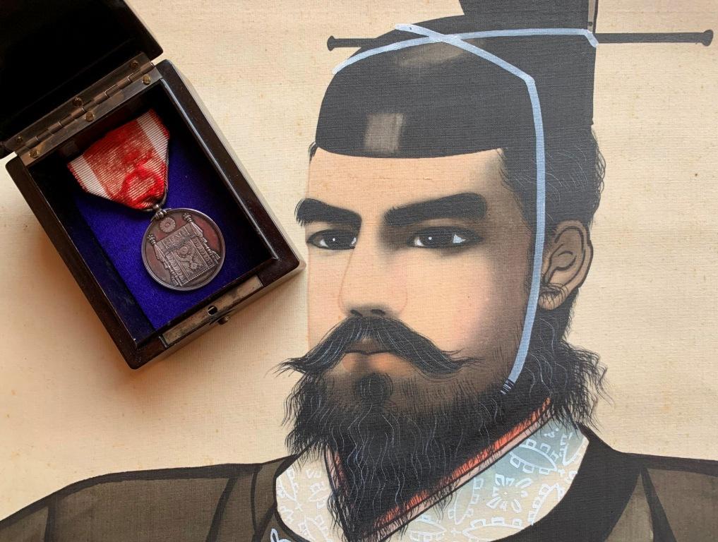 Médaille commém. de la promulgation de la Constitution impériale du Japon  Consti12