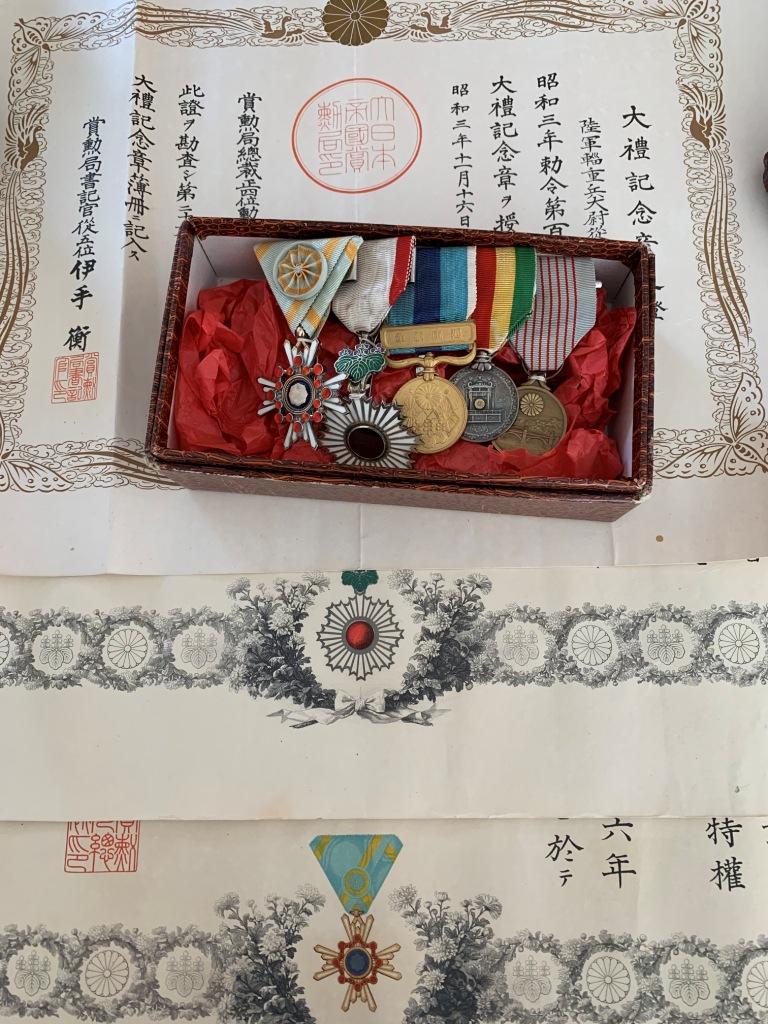 Médailles et diplômes du capitaine Yamagata  特務曹長 Dipl_l10