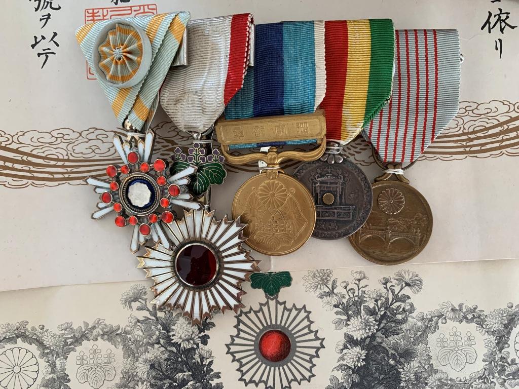 Médailles et diplômes du capitaine Yamagata  特務曹長 Dipl_l11
