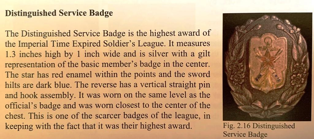 Le badge des services distingués de l'association impériale des réservistes Rzoser15