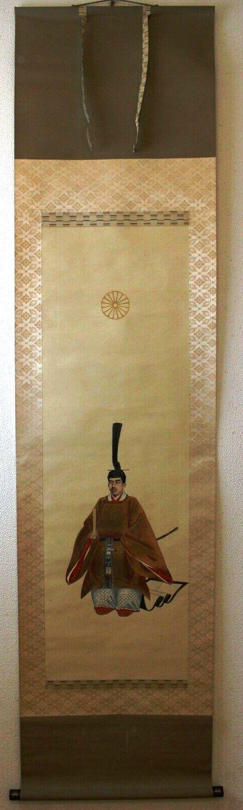 """L'art populaire """"Ôtsu-e"""" dans la représentation de l'emp. Taisho sur kakemono Showa_10"""