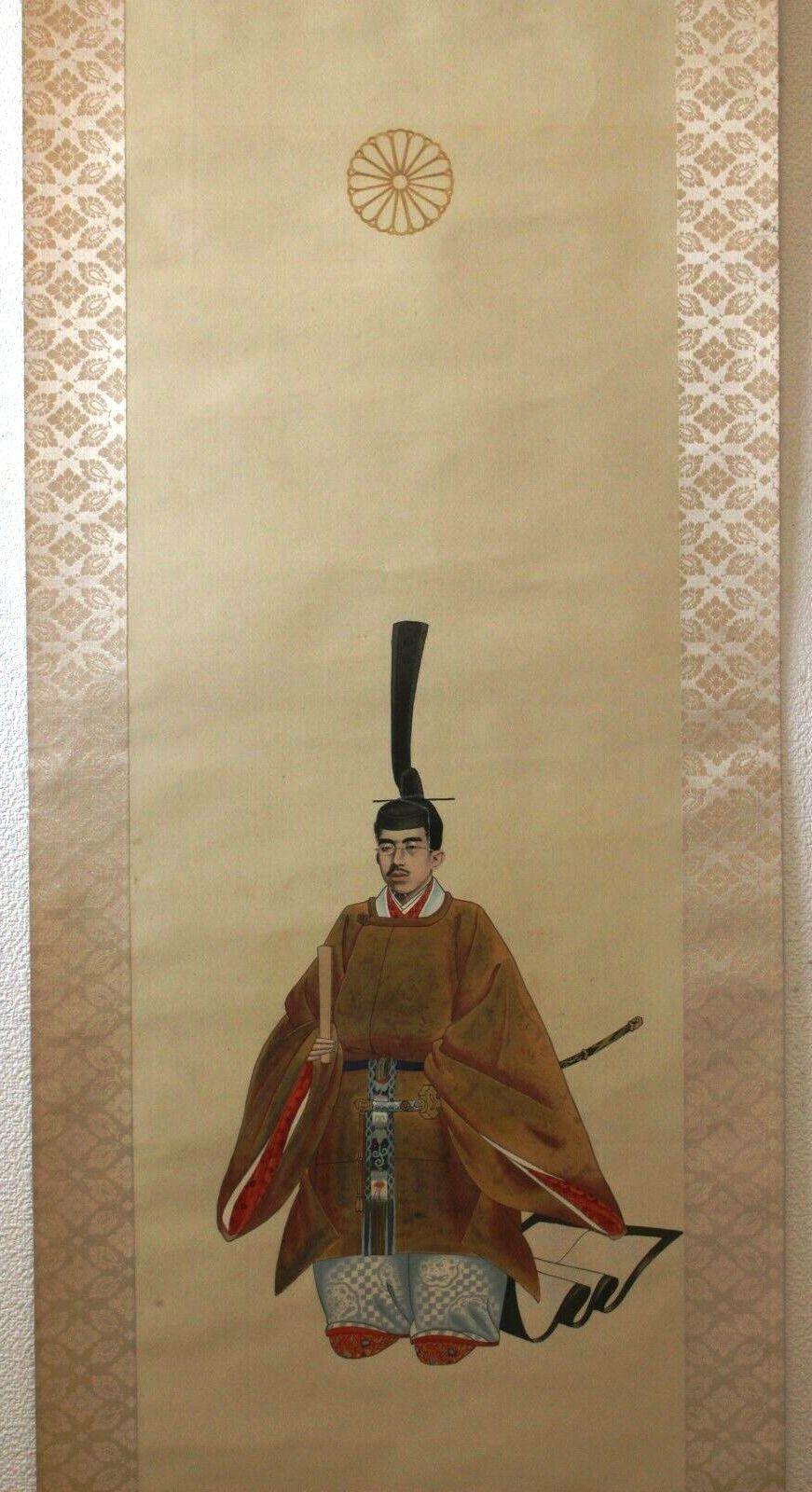 """L'art populaire """"Ôtsu-e"""" dans la représentation de l'emp. Taisho sur kakemono Showa_11"""