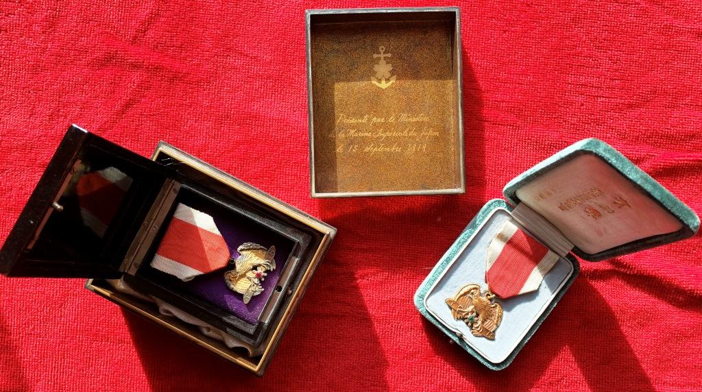 La médaille en or de la société impériale d'aviation sous Taisho : Socizo13