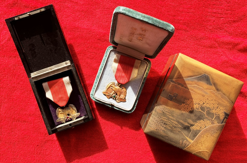 La médaille en or de la société impériale d'aviation sous Taisho : Socizo14