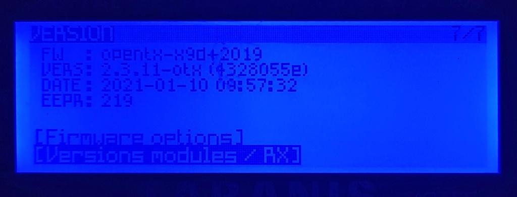Crossfire ne fonctionne plus suite a la mise à jour de la X9D Plus -2019 20210110
