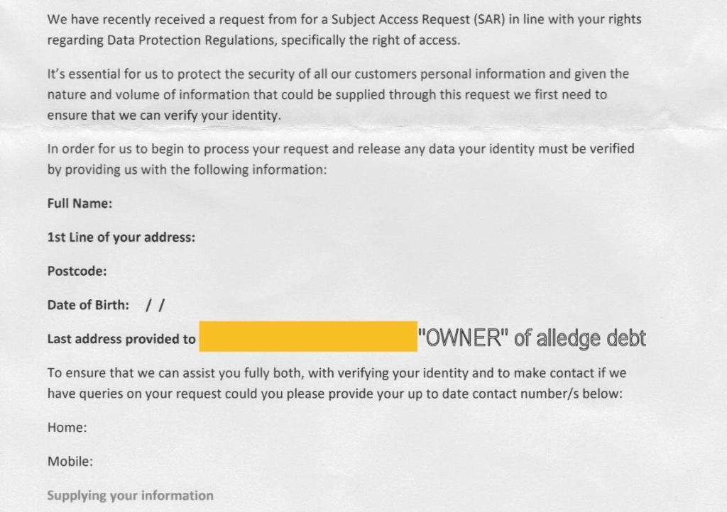 SAR reply received Arrow_12