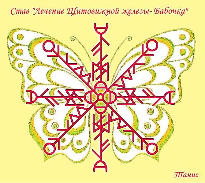 """Став """"Лечение Щитовидной железы- Бабочка"""" Автор: Tanis 114"""
