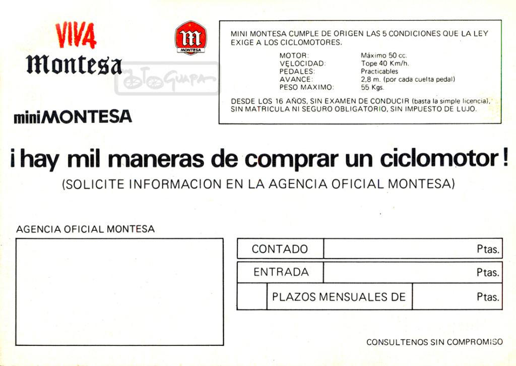 Presentación Mini Montesa 19682010