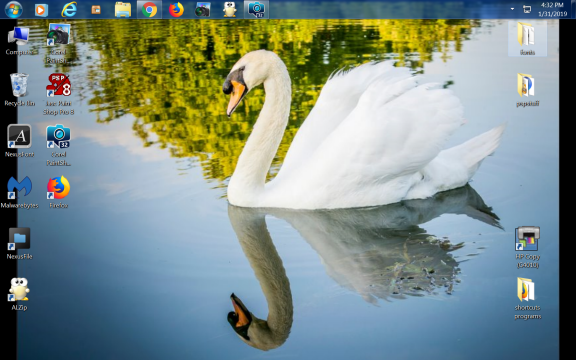 what is on your desktop Swan10