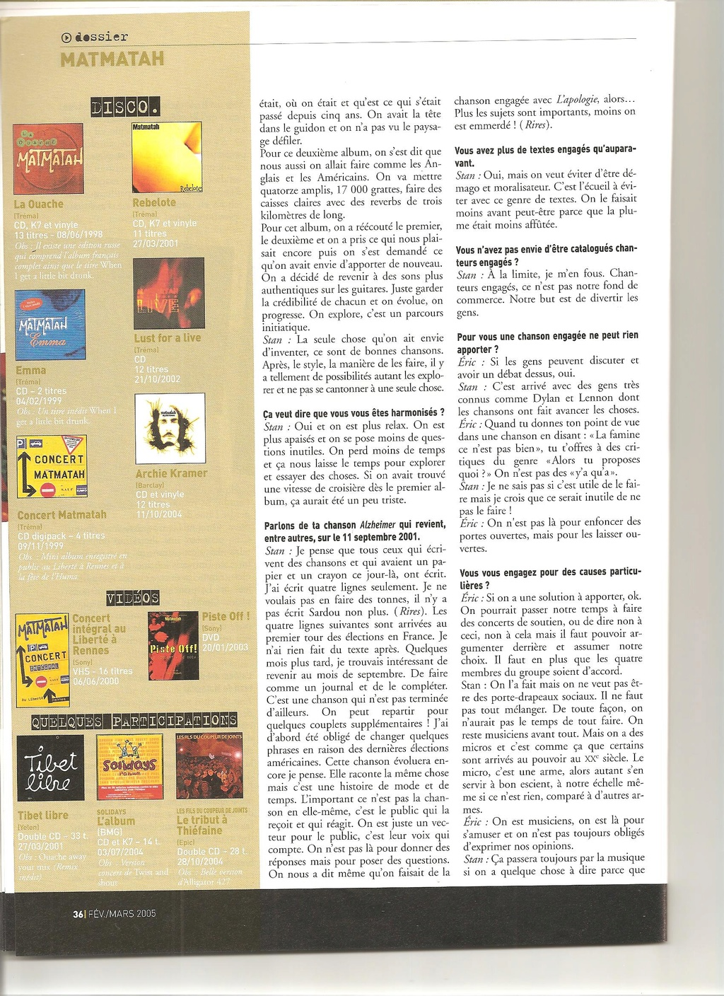 Archives - anciens articles... Franco21