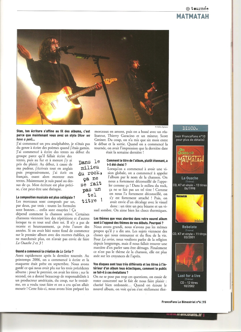 Archives - anciens articles... Franco25