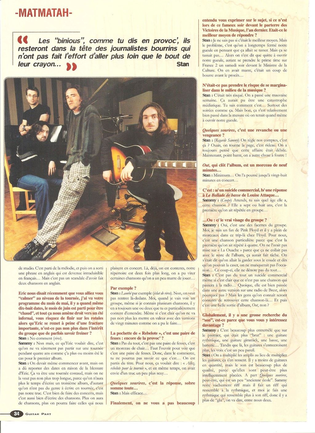 Archives - anciens articles... Guitar20
