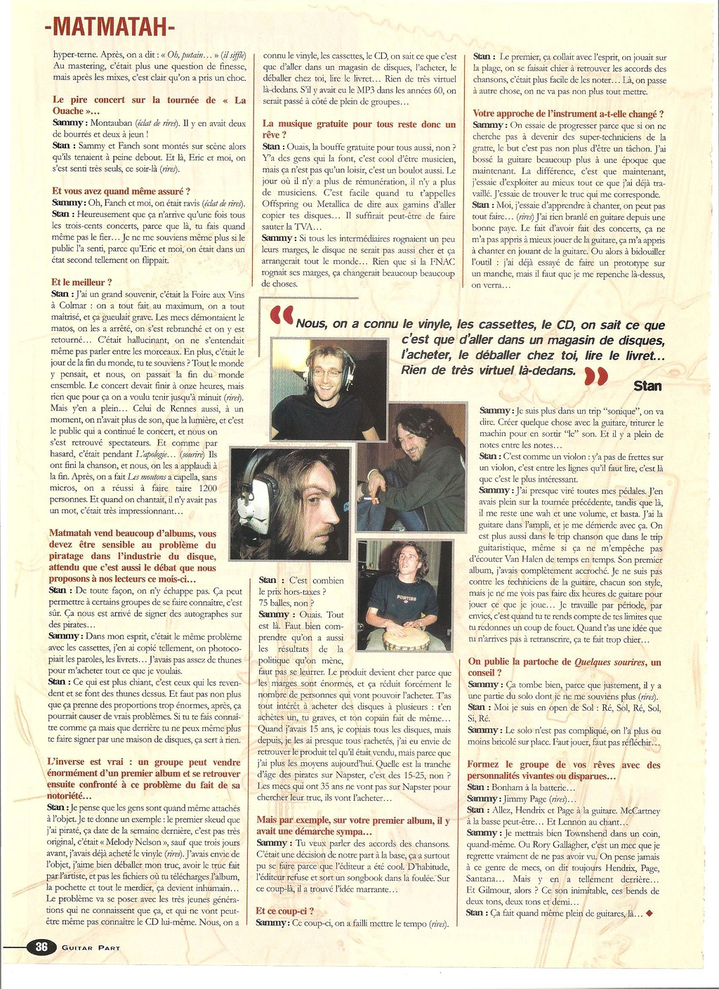 Archives - anciens articles... Guitar21
