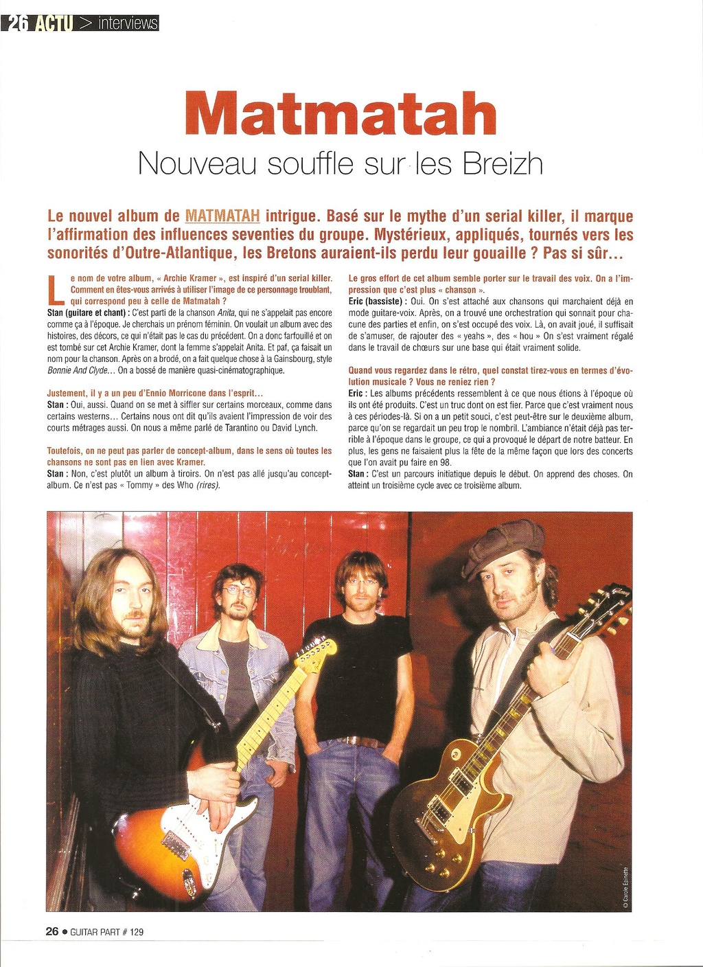 Archives - anciens articles... Guitar24