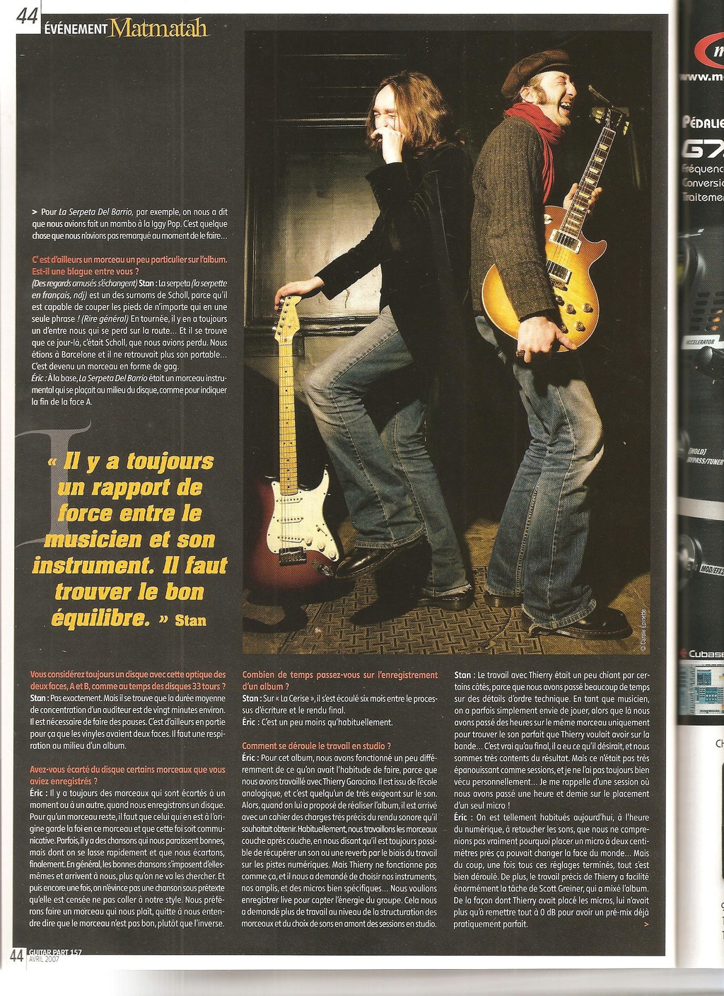 Archives - anciens articles... Guitar30