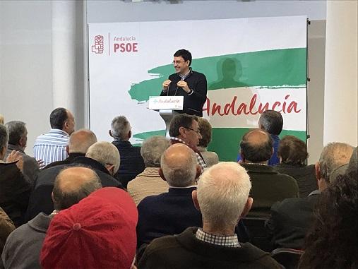 """PSOE   Pedro Sánchez: """"Queremos seguir trayendo el bienestar para los ciudadanos y las ciudadanas de Andalucía"""". Mario-10"""