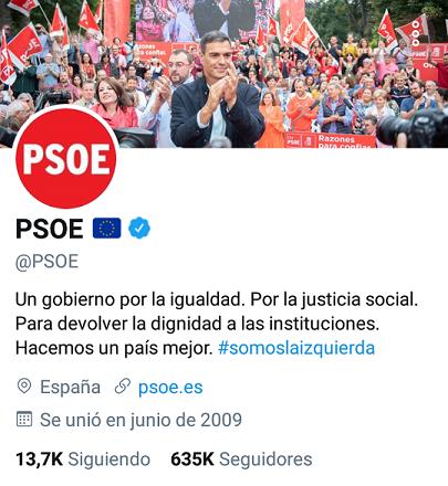 @PSOE y miembros Picsar29