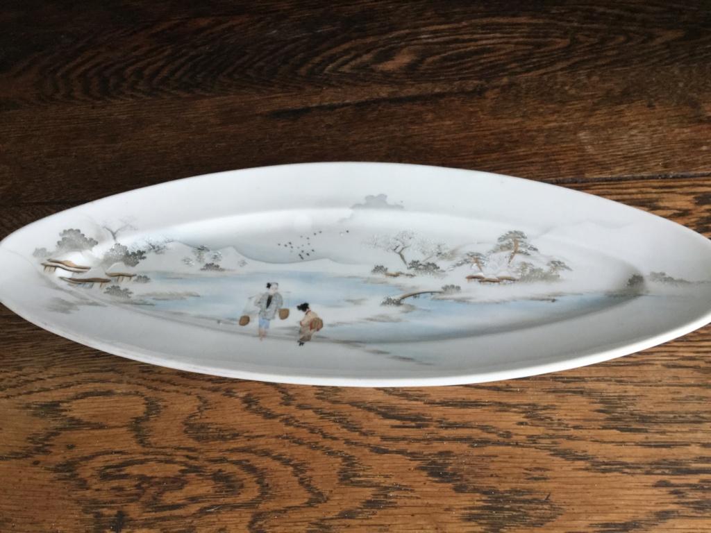 Japanese stoneware dish 42b87010