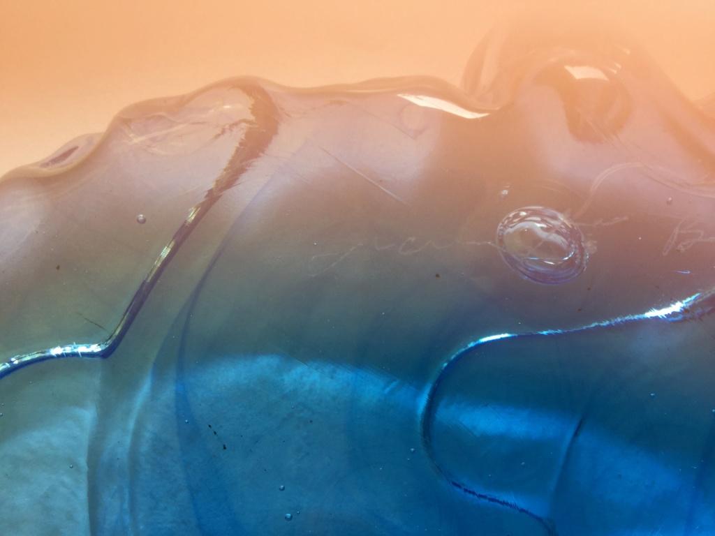 Heavy chunky glass art single stem vase - Amanda Brisbane 4f681510
