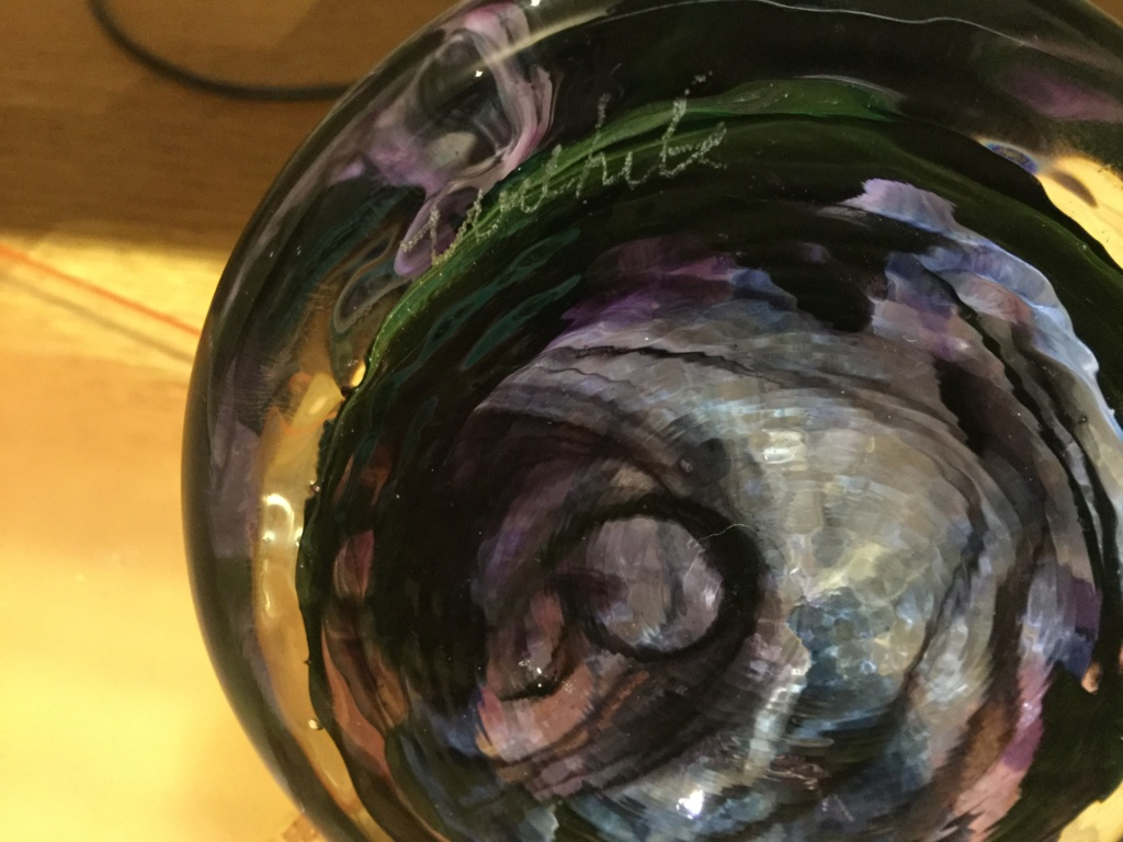 Unidentified glass makers mark marbles paperweight pen holder 60d21410
