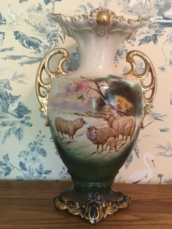 Staffordshire Art Nouveau / Victorian double handled vase 68087b10