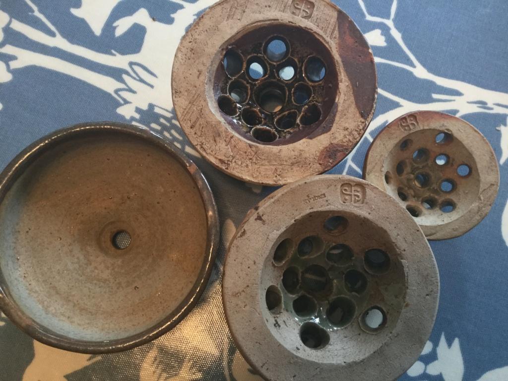 Leach pottery pomander? Flower frog 954bf610