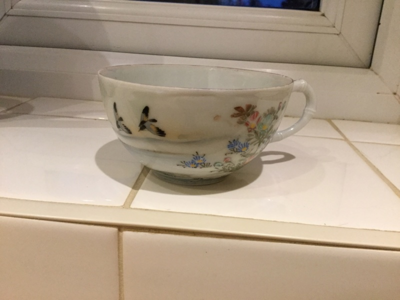Japanese fine bone cup and saucer help with marks please Aef78610