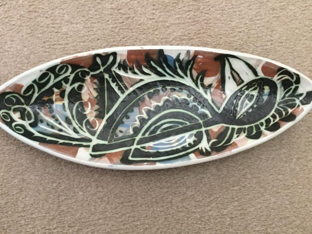 Unusual bird plate  Bill Fisher Mousehole Ba29de10