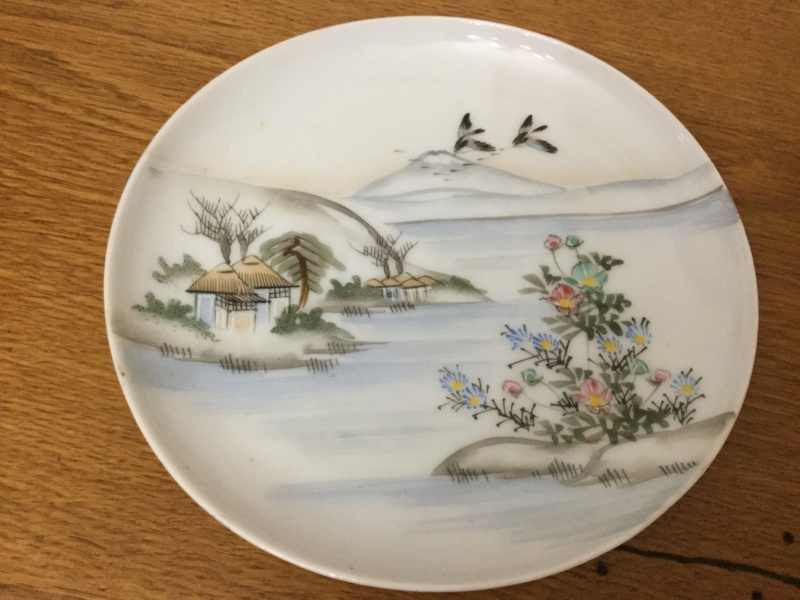Japanese fine bone cup and saucer help with marks please F81c3a10