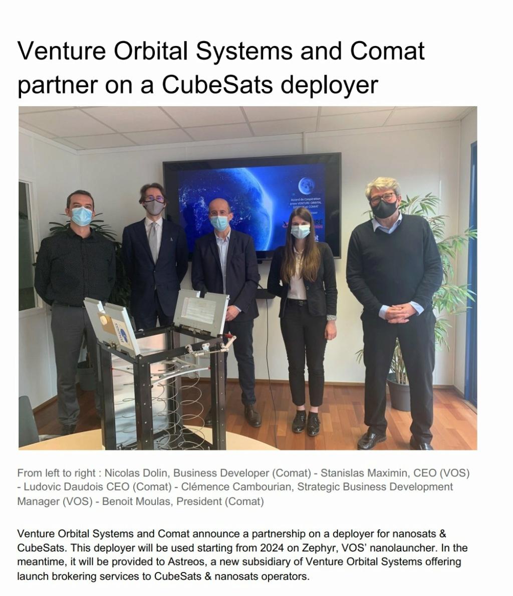 [Venture Orbital Systems] Lanceur Zephyr Evo-op10