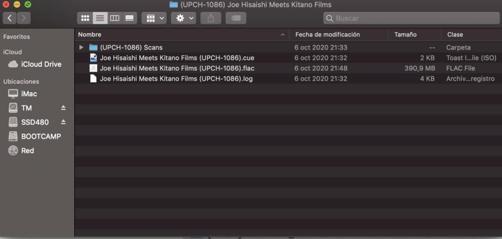XLD + Falcon: extracción, conversión FLAC y archivos .CUE en macOS Captur14