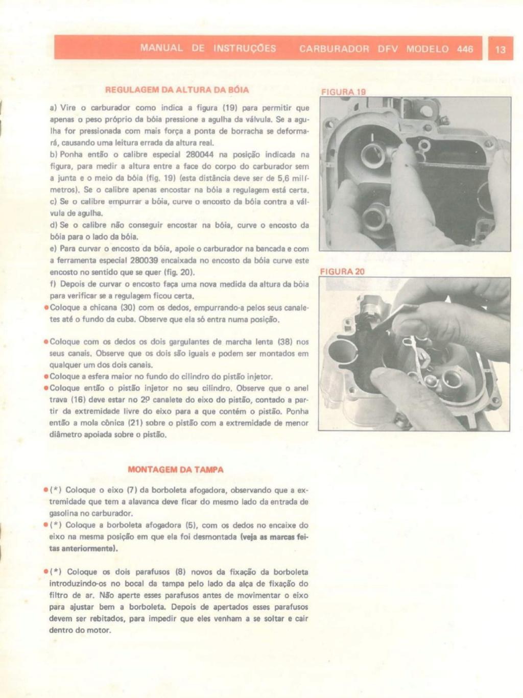 Carburador 446 afogando(ajuda) 446-2-10