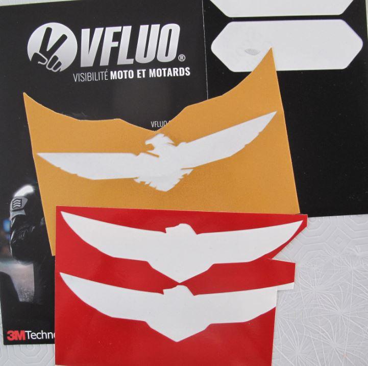 systeme réfléchissant sur casque Vfluo11