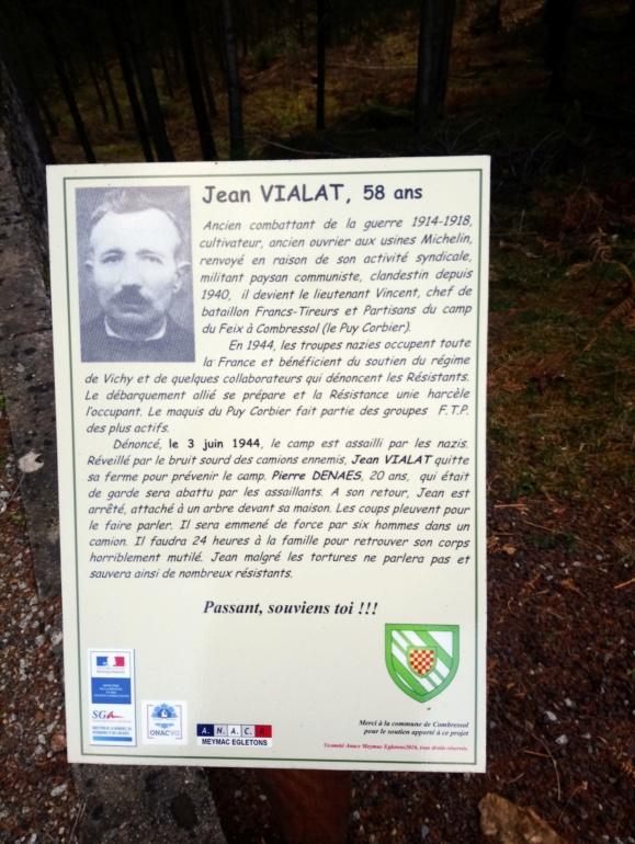 Monument FTP Jean VIALAT Pierre DENAES Combressol Corrèze  Dsc_2813