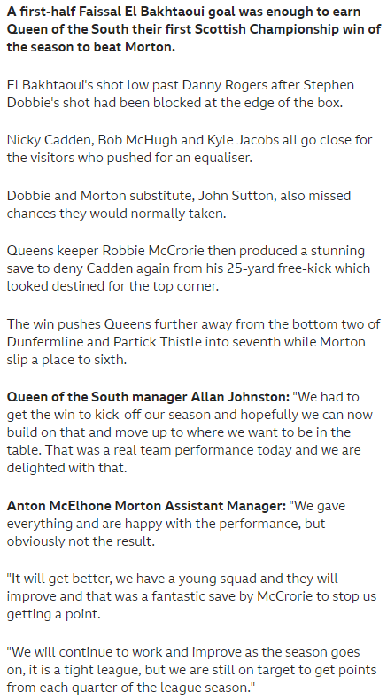 QUEEN of the SOUTH v MORTON - Page 2 Screen24