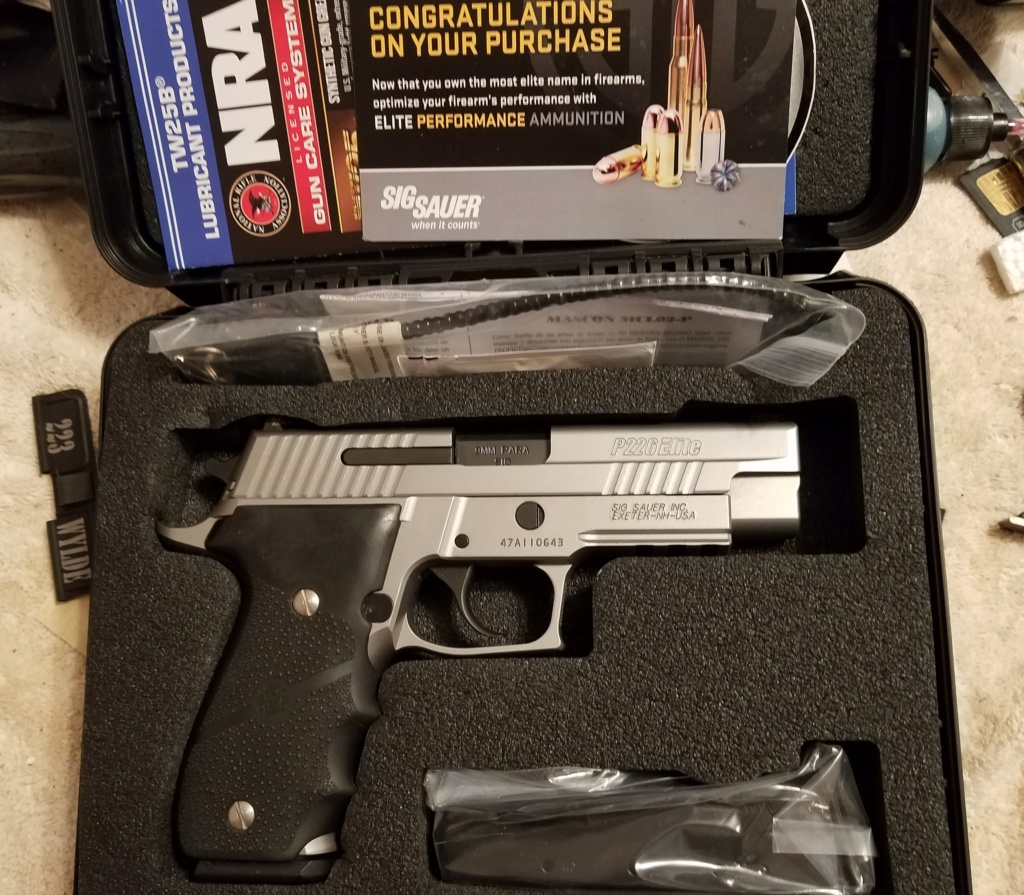 SOLD!!!  Sig Sauer Elite Stainless 9MM 20200315