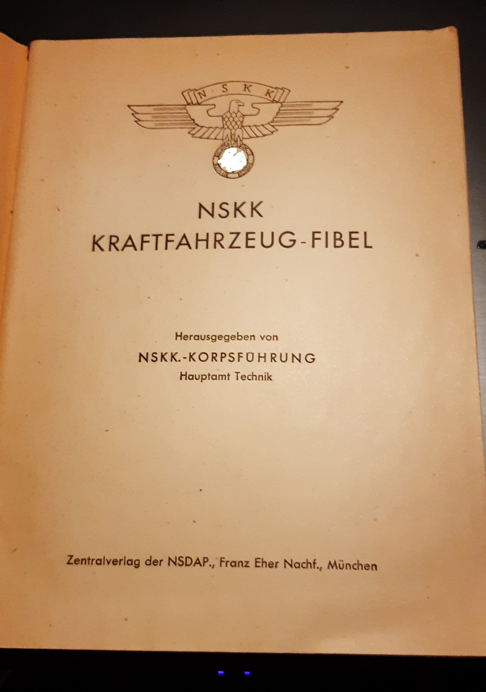 livre NSKK kraftfahrzeug fibel Nskk110