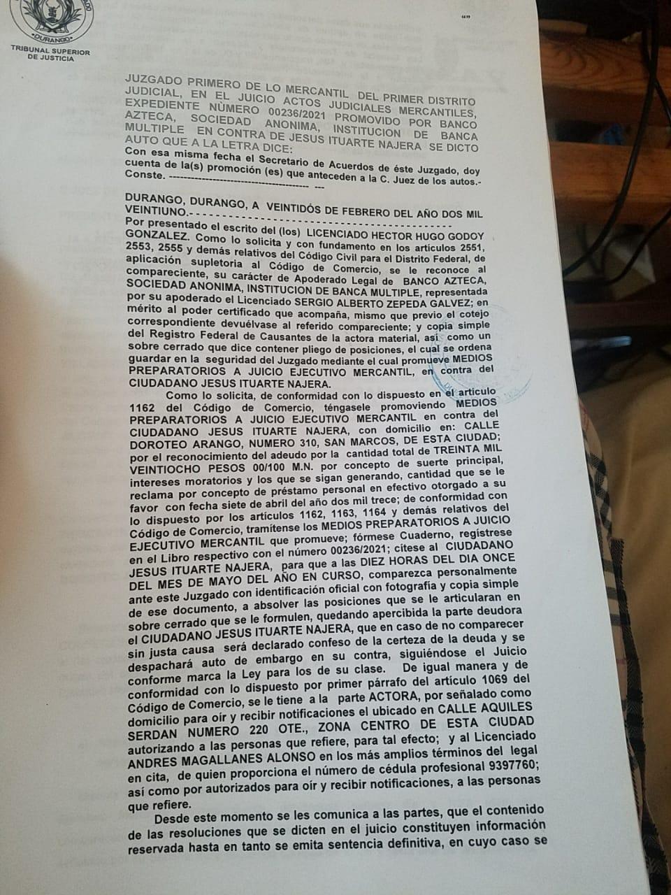 demanda banco azteca  Whatsa11