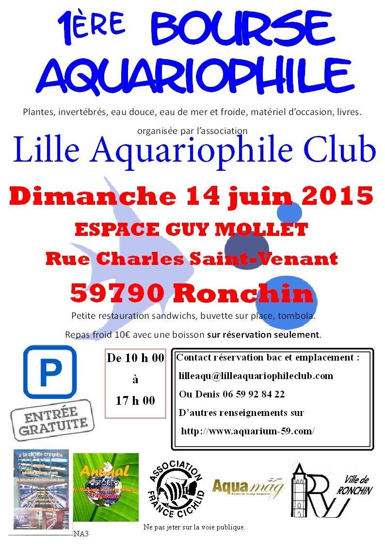 1ère bourse de l'association Lille Aquariophile Club Affich13