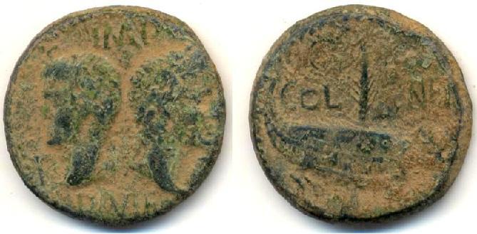 AS et Dupondius de Nîmes Numeri10