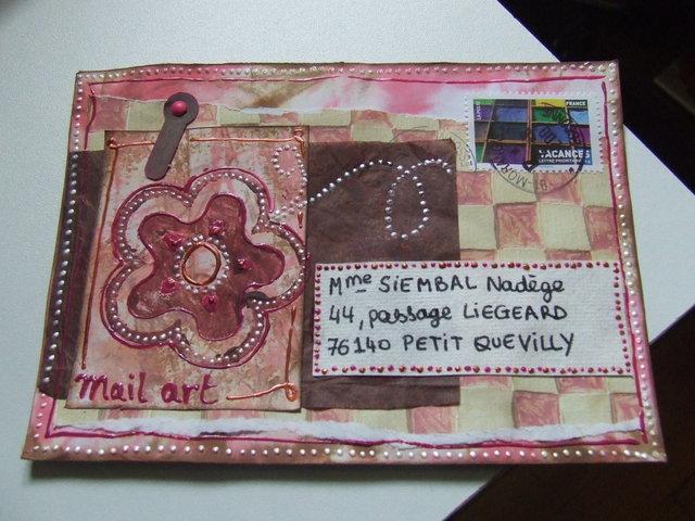 Swap mail art à partir d'un sketch Nelloo13