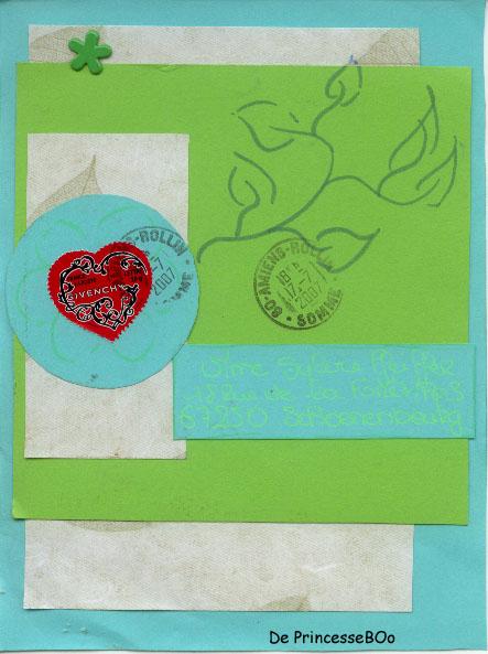 Swap mail art à partir d'un sketch Prince11