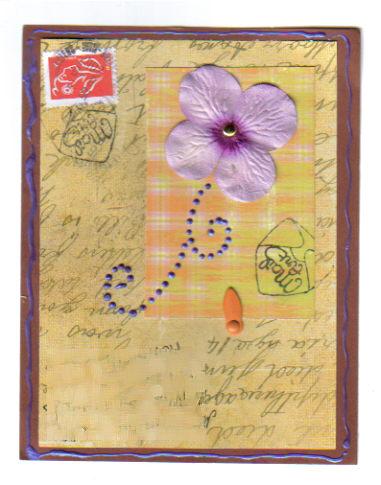 Swap mail art à partir d'un sketch Ziblin13