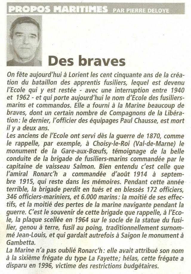 150 éme anniversaire des fusiliers marins à Lorient. - Page 3 Propos10